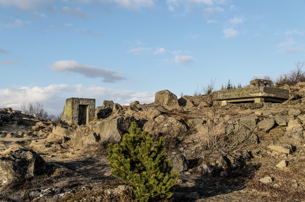 Öskjuhlíð is a hill in the centre of Reykjavík, a true gem and a popular outdoor area. . It rises aboout 61 metres above sea level. During the Second World War the Brittish and the United States Army occupation forces built various shelters, saps and barracks on the hill.
