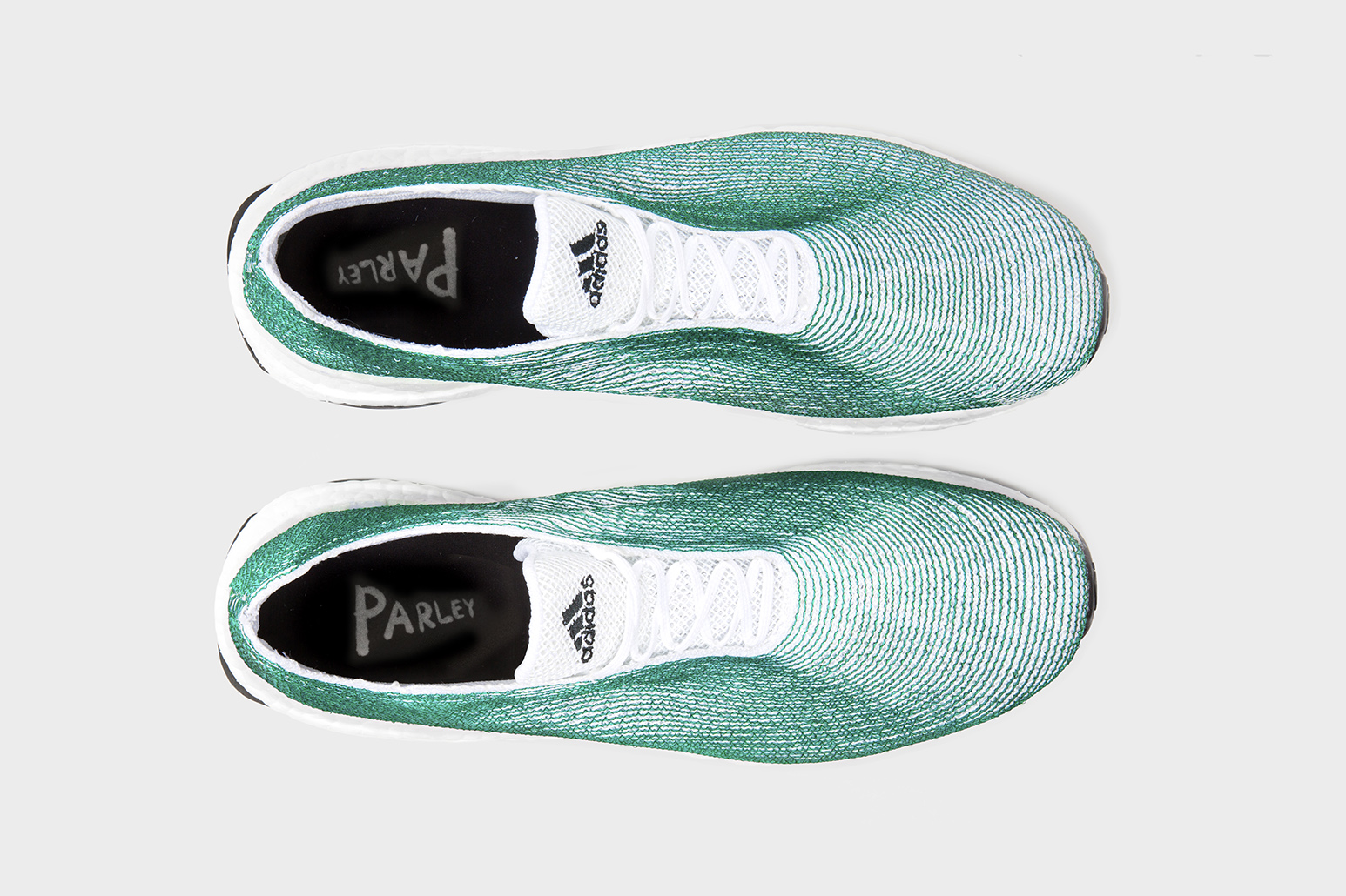 official photos 2b65d 444c5 Adidas × Parley running shoe with recycled into usable fibre. Photo by Alexander  Taylor Studio